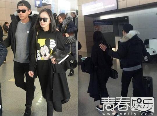 杨幂刘恺威素颜现身机场破离婚传闻