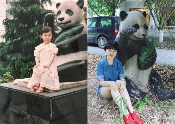 女生晒19年前后对比照逆天毕业照 看胡歌杨幂倪妮刘亦菲baby以前长